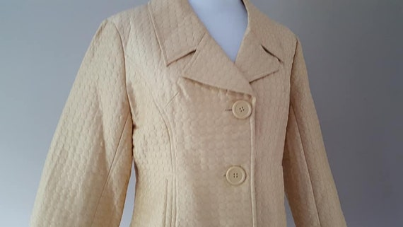 SILK Jacket Small Silkland Butter Yellow  Vintage… - image 2