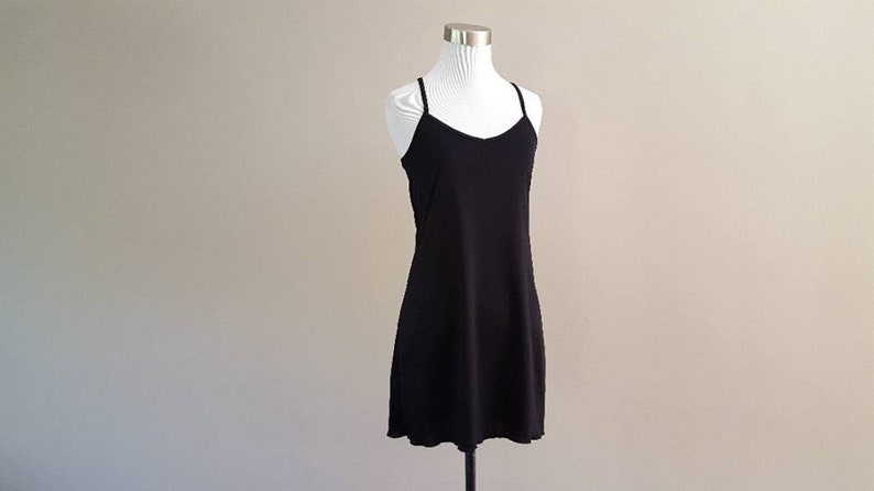 Full Slip Small Short Black Polyester Vintage No Tags ..