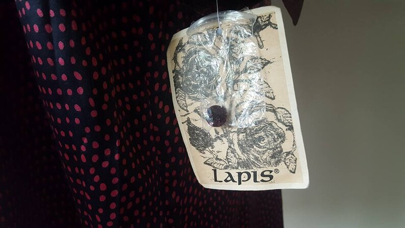 Shirt Dress Large Lapis Pink Navy Blue Long Vintage Apparel ..