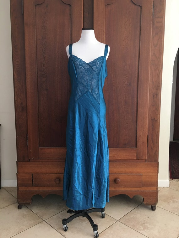 Long Nightgown Teal Victoria's Secret Gold Label M