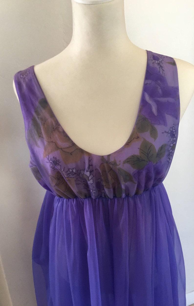 Wear it like Mrs Maisel Medium Montgomery Ward  Peignoir Set  Fabulous 1960/'s Deep Purple  Chiffon Peignoir Set Medium 200 Sweep Vintage