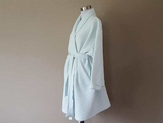 Robe XL Simple Pleasures Pale Blue Green Long Slee
