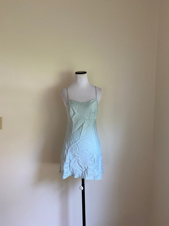 SILK Chemise Victoria's Secret Small Sea Foam Gree