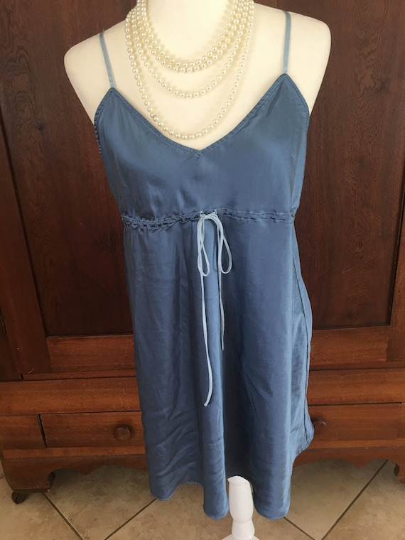 SILK Nightgown Blue Large...