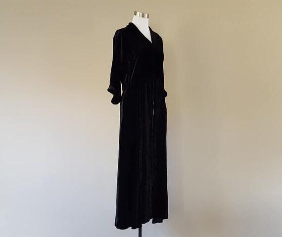 Dress Small Flobert Black Velvet Three Quarter Sle
