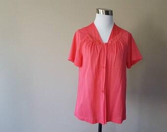 S / Sleep Top / Pajama Shirt / Loungewear / Apricot / Small