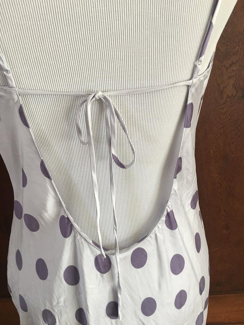 SILK Nightgown Victoria/'s Secret Small Lavender with Purple Polka Dots Asymmetrical Hem