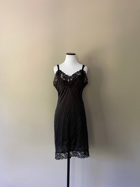 36 Lorraine Full SLip Black... - image 1