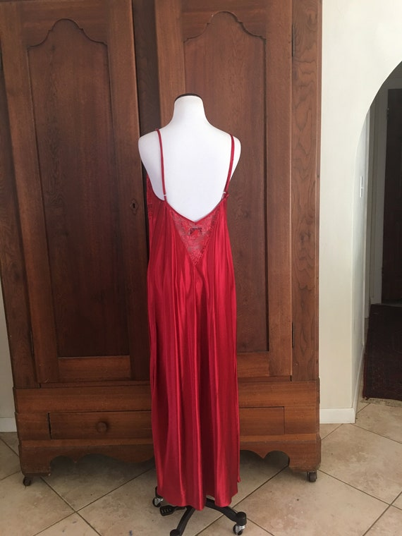SILK Nightgown Large Nordstrom Lingerie Red... - image 5