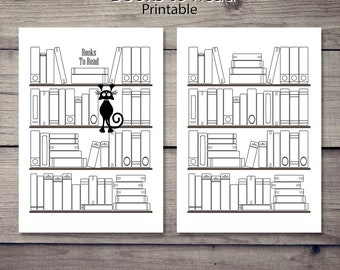 Printable Book List, A5 Planner, Letter size Planner,Printable Planner, Diary Planner, Printable Reading List, Printable Books to read