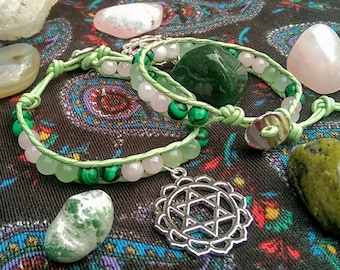 Heart Chakra Gemstone Bracelet