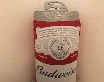 Beer Can Pinata (choose your favorite). Party decorations.