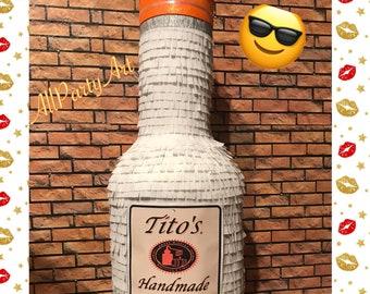 Bottle Vodka Pinata (choose your favorite). Party decorations.