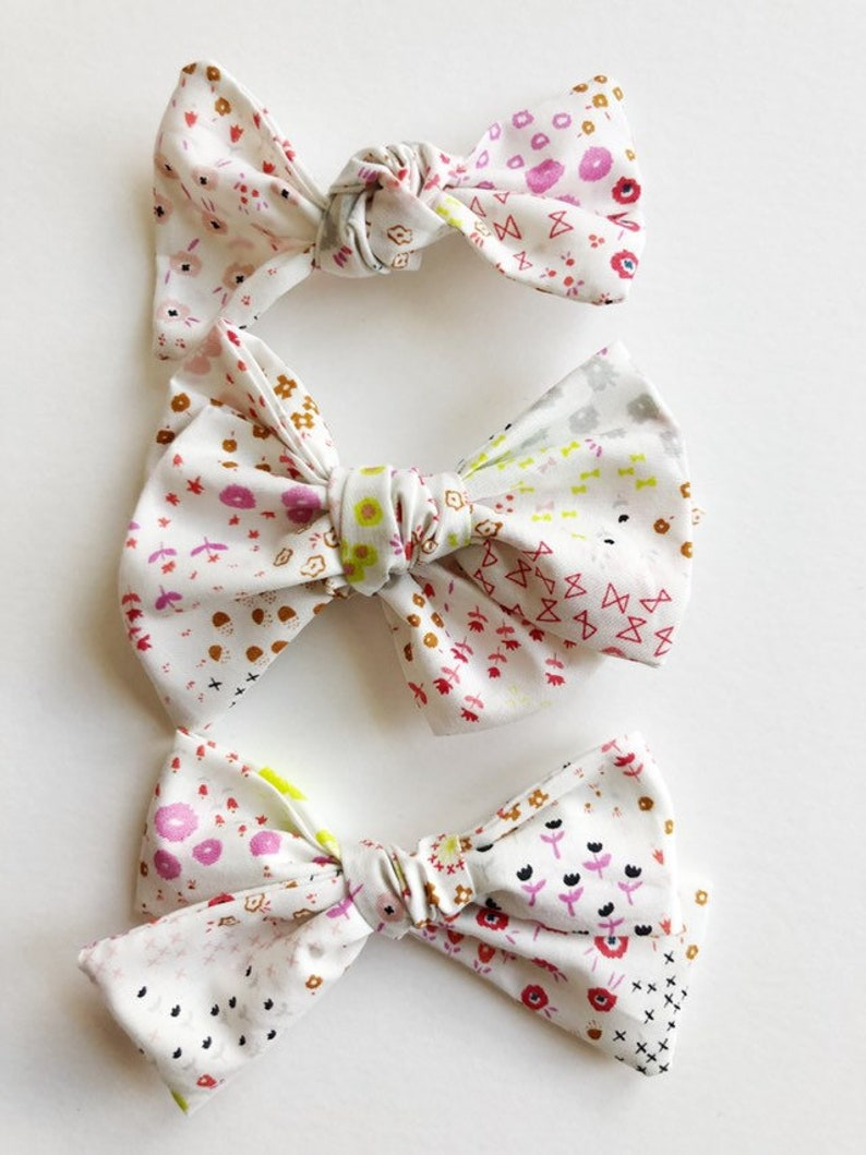 ebbd68846781e Spring bow - Baby headband - baby bow headband -baby girl headband - baby  bows -nylon headband - bow clip , cotton and steel fabric