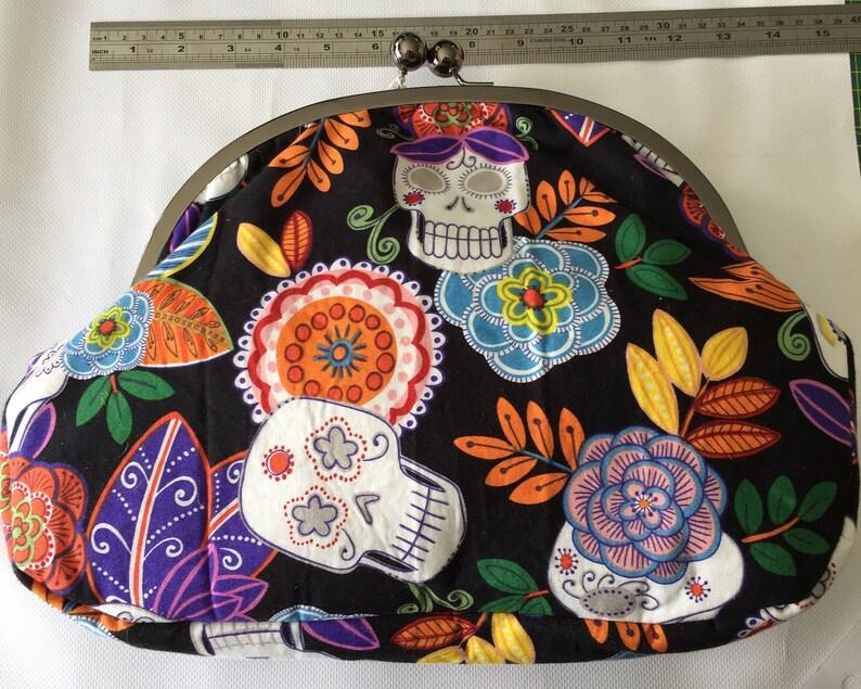 6a16447983bd4 Totenkopf Tag der Toten Stoff Handtasche