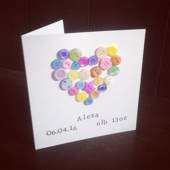 Personalised New Baby Card- add date of borth and birth weight for a perfect new baby card