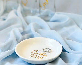 Personalized Ring Dish | Trinket Dish | Initial or Name | Jewelry Dish | Trinket Bowl