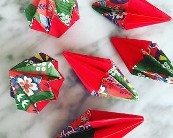 4 Origami Christmas Charms