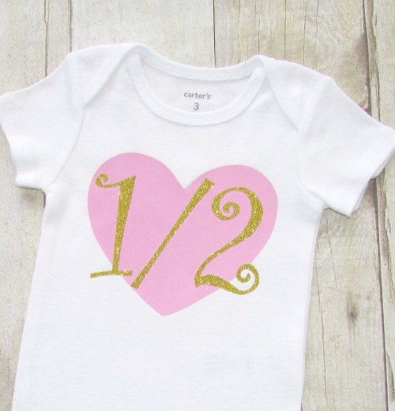 Half Birthday Shirt Pink And Gold Clothes
