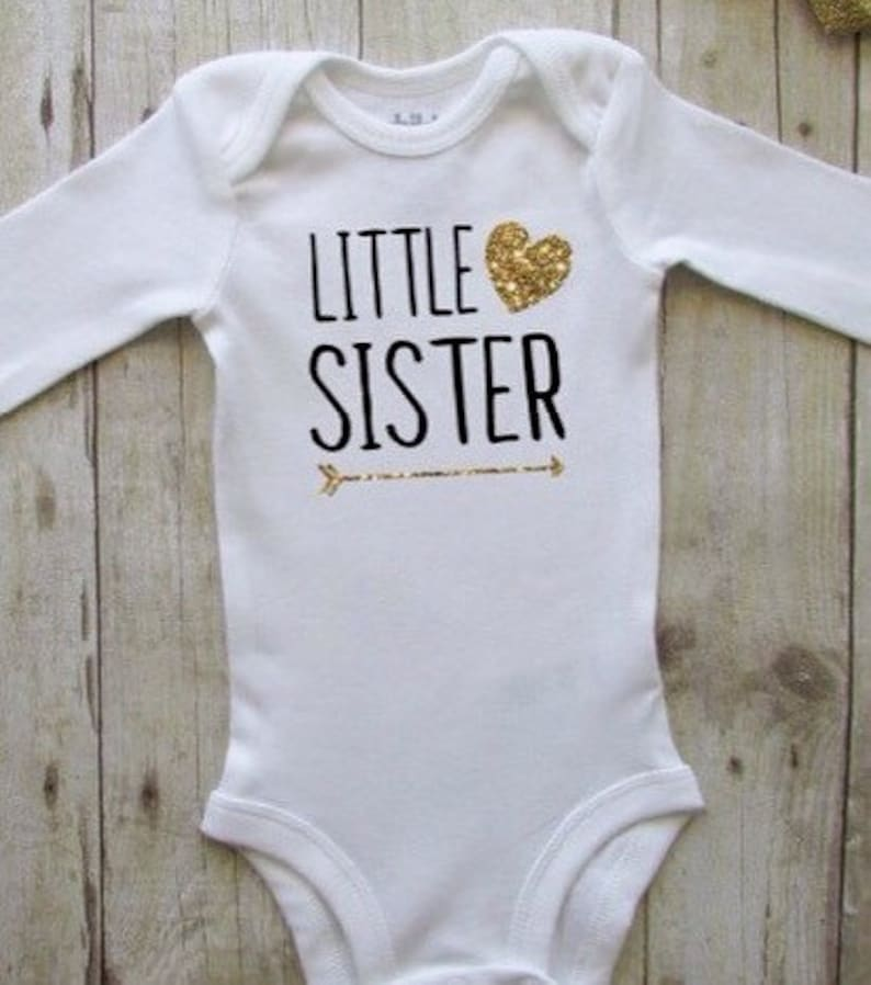 48a6b95dd Baby clothes Little sister baby bodysuit Little sister   Etsy