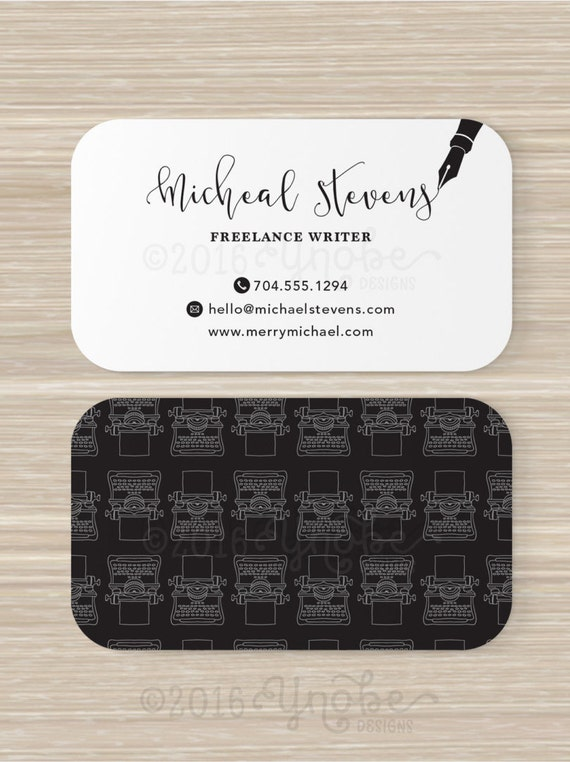 Freelance Writer Copywriter Editor Business Card Black