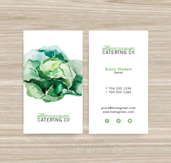 Chef caterer catering nutritionist business card etsy image 0 colourmoves