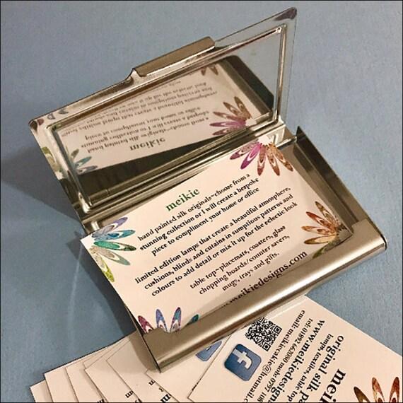 Moderne Visitenkarte Fall Metall Visitenkarten Etui Lila Grün Und Türkis Kreise Drucken Gemusterten Ziemlich Einführung Kartenhalter