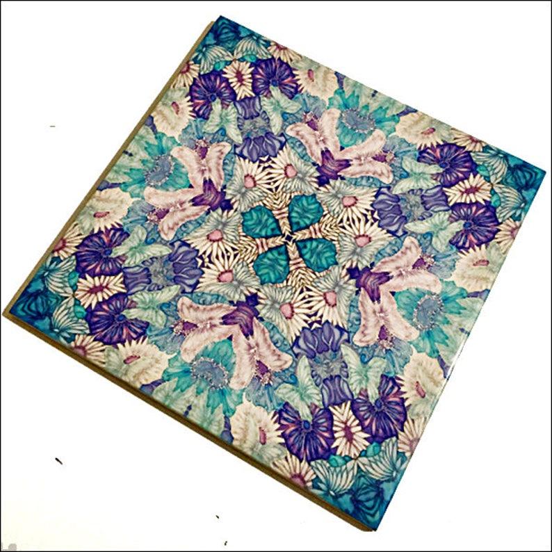 Farfalla Fiori Mattonelle Decorative Piastrelle Di Parete Dipinta Mano Blu Lilla Farfalle Bagno Piastrelle Piastrelle Cucina Floreale Boho