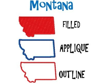 montana outline map etsy