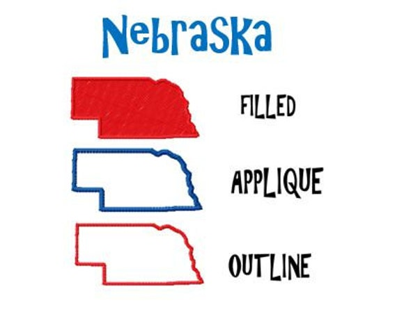 Free Nebraska Map.Bogo Free Usa State Nebraska Map Embroidery Design Pack Etsy