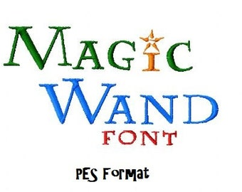 Bogo Free Font, Buy 1 take 1 font, Buy One Take one, Magic Wand Embroidery Font, Instant Download, 4 Sizes, PES, DST,JEF, Hus, VP3 Format
