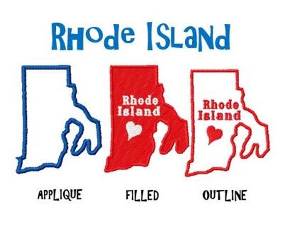 Bogo Free USA State Rhode Island Map Embroidery Design Pack | Etsy