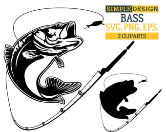 bass fishing svg etsy rh etsy com