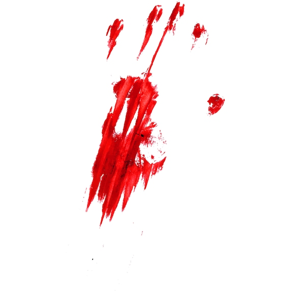 Bloody, Handprint, Hand, Finger, Fingerprint, Thumb, Print, Blood,  Silhouette,SVG,Graphics,Illustration,Vector,Logo,Digital,Clipart