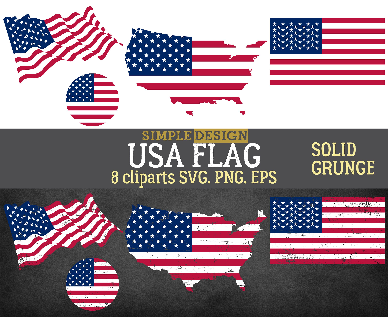 American Flag Svg Distressed American Flag Svg Usa Flag Etsy