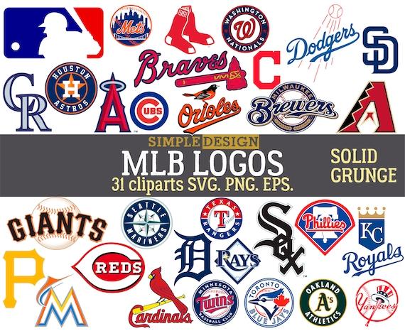 bdb398acce2 MLB team logos MLB SVG baseball team logos grunge