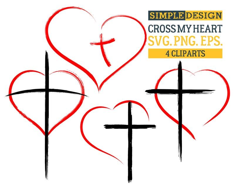 573ecb05e4a8f Сross my heart Cross Heart Religious Christian Grunge | Etsy