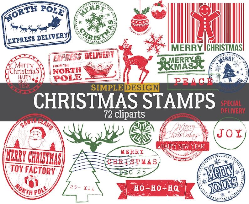 Christmas Stamps.Santa Stamp Christmas Stamp Holiday Stamp Christmas Stamps Santa Claus Stamp Santa Stamps From Santa Stamp