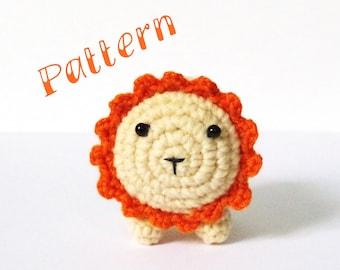 Crochet pattern, crochet Lion, amigurumi pattern, crochet toy pattern, crochet plush toy stuffed animal, crochet animals, cute crochet lion