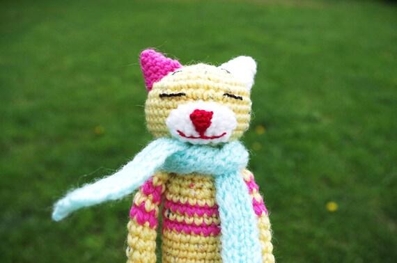 Haak Amineko Cat Kat Amigurumi Haak Speelgoed Gehaakte Etsy