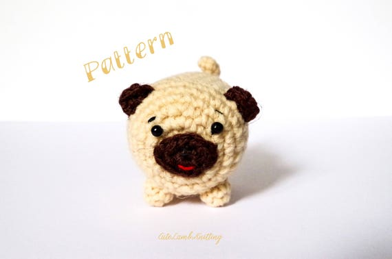 Hiro the Pug Amigurumi Crochet Pattern - English, Dutch, German | 378x570