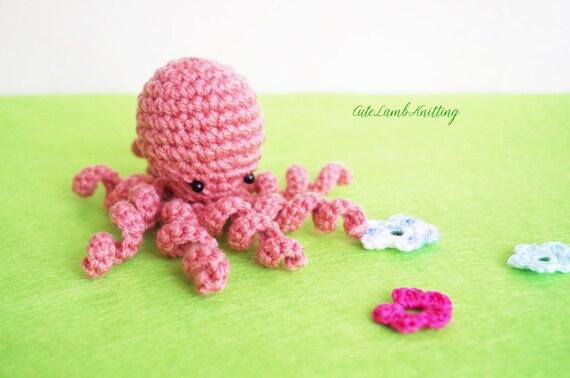 Octopus Mini Amigurumi Haak Speelgoed Haken Haak Opgezette Etsy