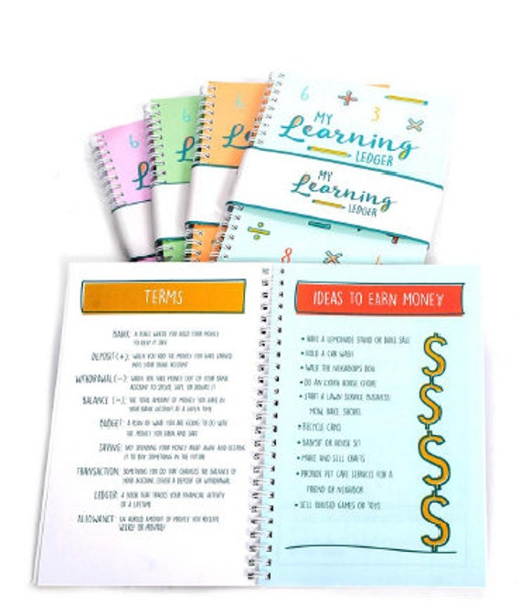 budget planner book allowance tracker budget workbook etsy