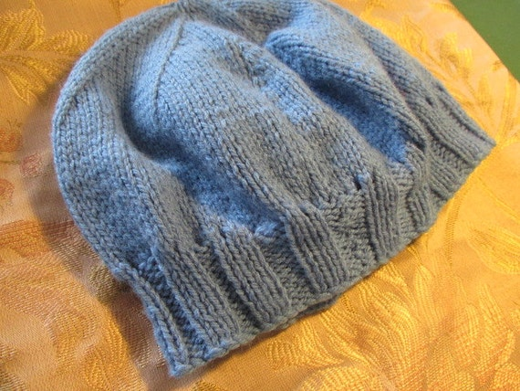 Vintage knitted beanie vintage hat childs boys gi… - image 3