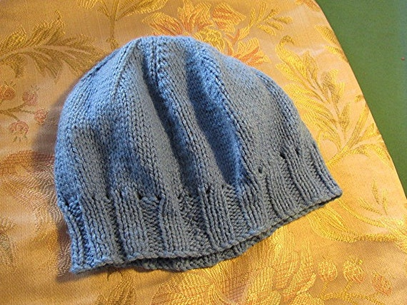 Vintage knitted beanie vintage hat childs boys gi… - image 1