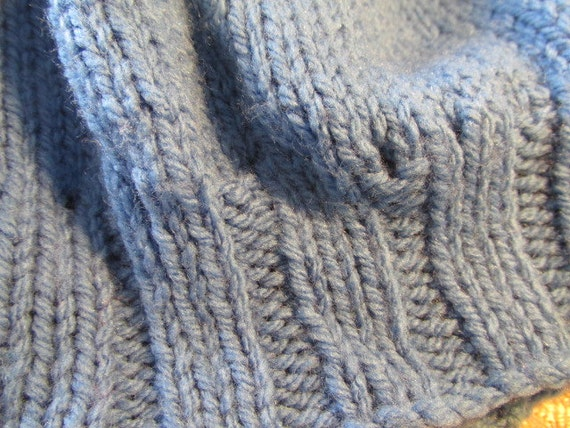 Vintage knitted beanie vintage hat childs boys gi… - image 2