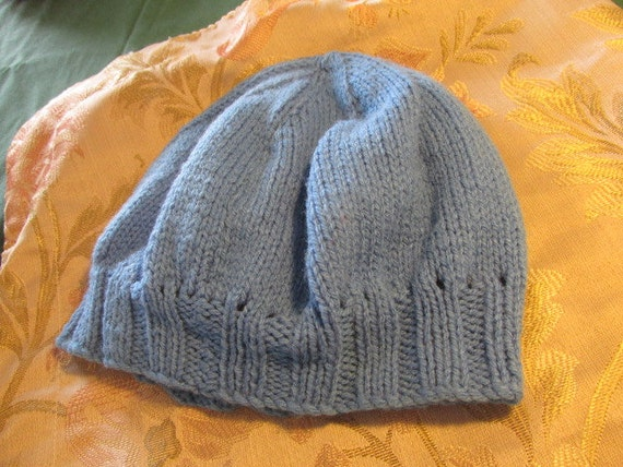Vintage knitted beanie vintage hat childs boys gi… - image 4