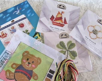 Vintage embroidery kit tapestry kit needlepoint kit tapestry canvas tapestry gifts diy tapestry materials.