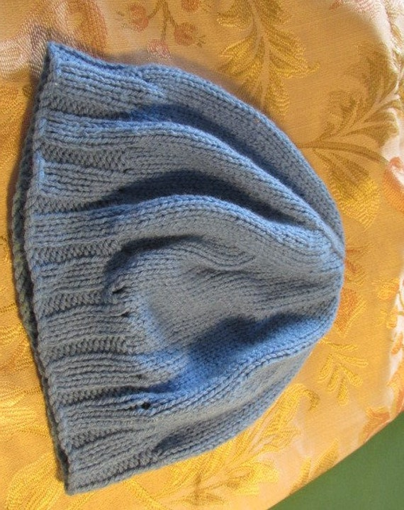 Vintage knitted beanie vintage hat childs boys gi… - image 5
