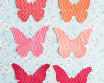 6 butterflies embellishments for crafting, scrapbooking, textile arts, 966 Lelièvre France upholstery fabric